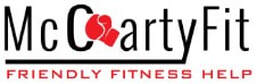 McCartyFit logo with boxing glove and text